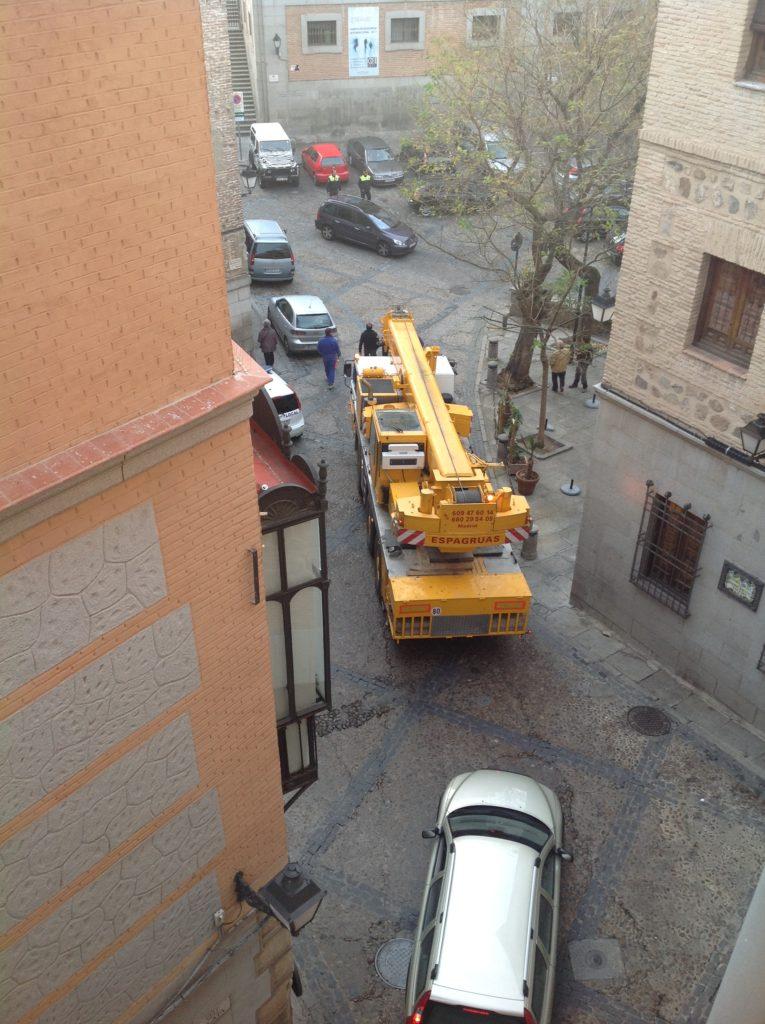 Montaje Grua Torre Casco Antiguo de Toledo - Espagruas 3