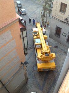 Montaje Grua Torre Casco Antiguo de Toledo - Espagruas 4