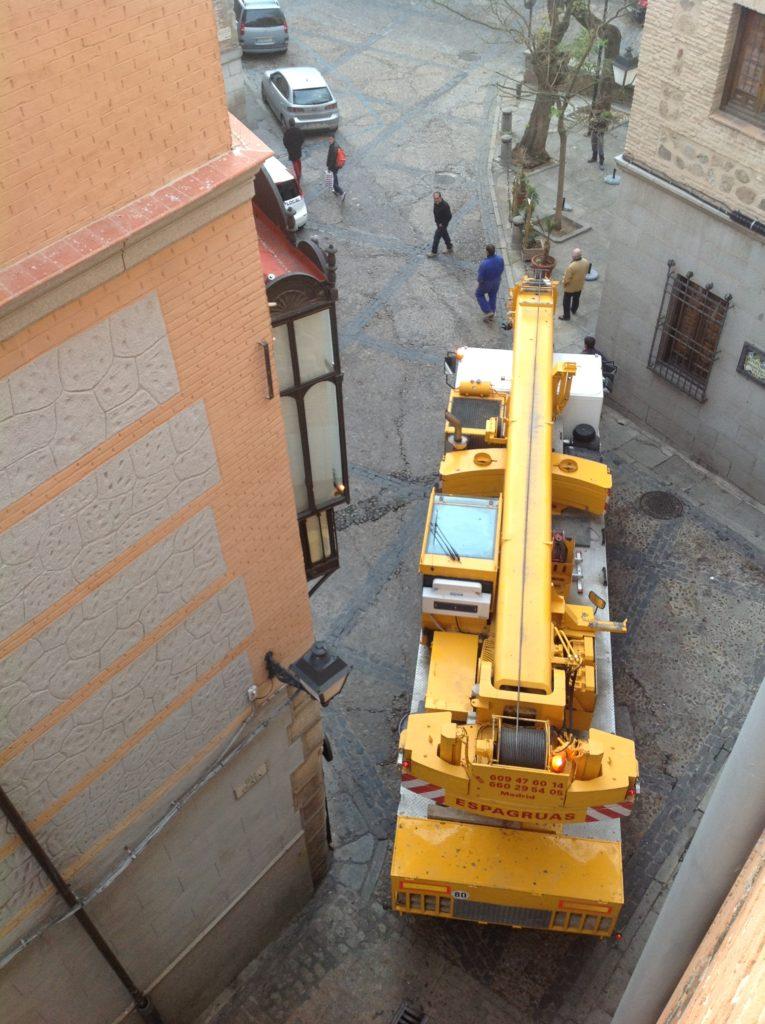 Montaje Grua Torre Casco Antiguo de Toledo - Espagruas