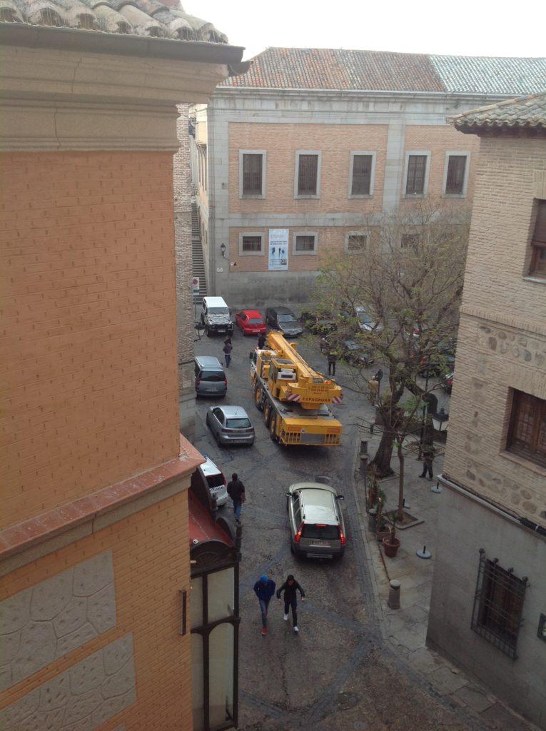 Montaje Grua Torre Casco Antiguo de Toledo - Espagruas 2