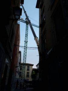 Desmontaje de Grua Torre en Granada - Espagruas